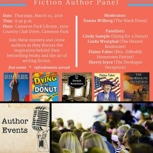 Authors get their best feedback from author events